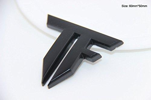 B194 Transformers Zeichen Schwarz auto aufkleber 3D Emblem Badge car Sticker Abziehbild (Schwarzer Transformers-emblem)