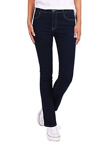 Fraternel Damen Jeans Hose straight cut normal waist gerade Dunkelblau S / 36 - W28
