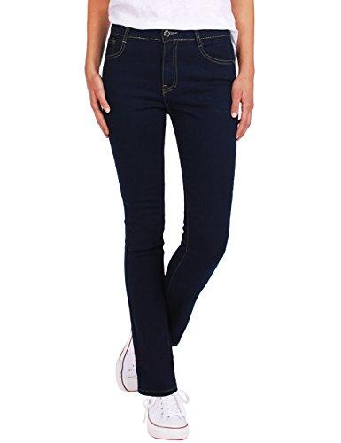 Fraternel pantalon jeans femme droit Bleu foncé