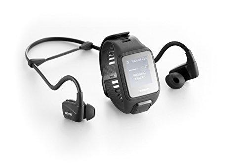 TomTom Spark 3 Cardio+Music Orologio GPS per il Fitness con Auricolare Bluetooth, Cardiofrequenzimetro Integrato, Lettore Musicale Integrato, Activity Tracker 24/7, Cinturino Large, Nero
