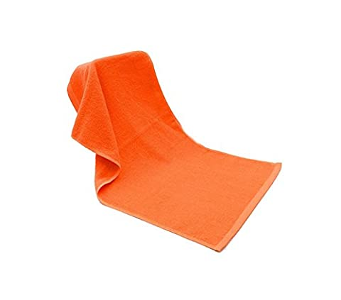tellm 35* 75cm Handtuch uni Hotel reine Baumwolle Fire Behandlung Handtuch rechts Kin Haarverdichtung Flammschutzmittel Handtuch, baumwolle, Orange, 35*75cm