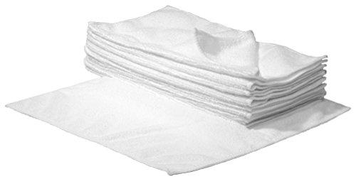 Mikrofaser Reinigungstücher weiß 30 x 30cm 100 Stück