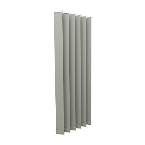 Victoria m tenda a lamelle verticali isabella - forma a i, leggermente trasparente - 12,7 x 250cm, argento | pacco da 6