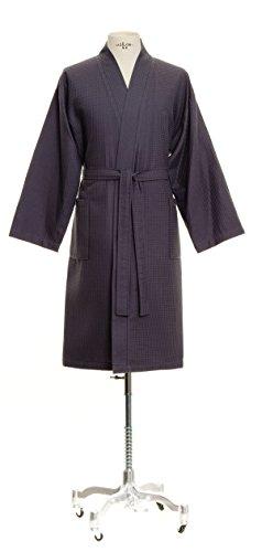Möve Homewear Kimono Waffelpiquée in Gr. L aus 100 % Baumwolle, graphite -