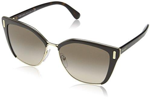 Prada Damen 0PR56TS DHO3D0 57 Sonnenbrille, Braun Pale Gold/Brown
