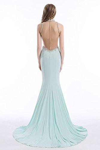 Bridal_Mall - Robe - Sirène - Sans Manche - Femme Bleu layette