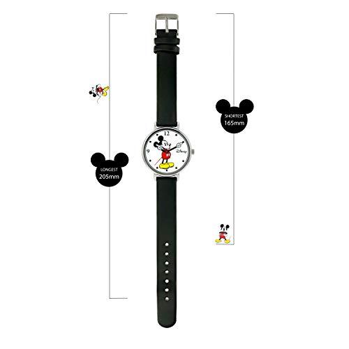 319yHbbHxFL - Disney Reloj Análogo clásico para Unisex de Cuarzo con Correa en Cuero MK1315