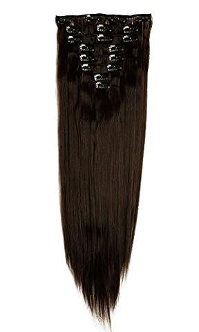 S-noilite® 17-26 Inches(43-66cm) 8pcs Long Full Head Clip In Hair