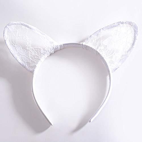 rreifen Männer Dchen Kopfbedeckungen Cosplay Halloween Fancy Dress Party (Color : Weiß, Size : One Size) ()