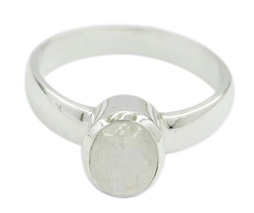 erling Silber aus echtem Regenbogen Mondstein Ring Geschenk de ()