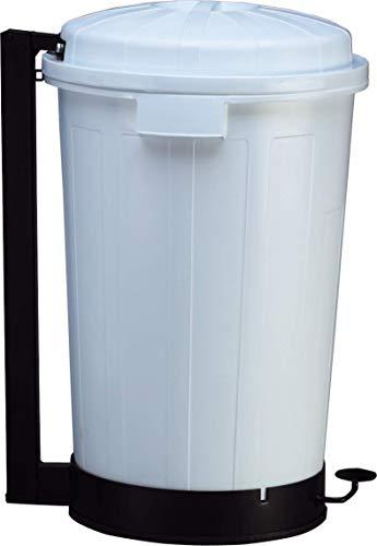 PLASTICOS HELGUEFER - Basurero 95 litros con Pedal, Color Blanco