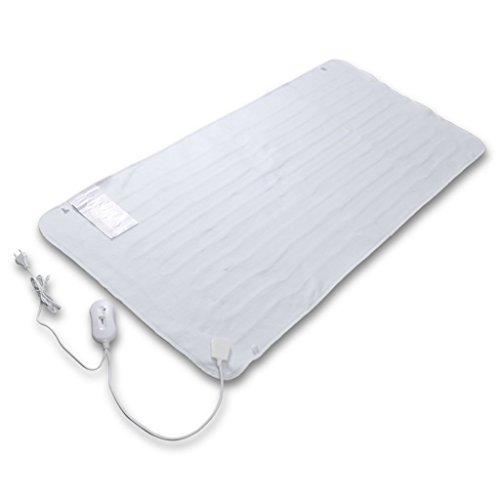 Festnight Wärmeunterbett Wärmedecke Heizdecke Wärmezudecke Waschbar 150x70 cm 50 Watt Weiß