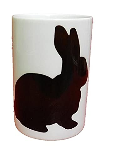 Black Rabbit Silhouette Bone China Tasse