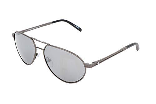Montblanc Unisex-Erwachsene Mont Blanc Sonnenbrille, Grey, 59