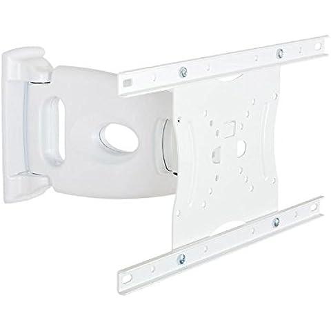 4World 07496-WHT - Soporte de pared para pantalla plana (40 kg, 38,1 cm (15