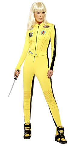Smiffys Licenza ufficiale Disfraz de Kill Bill Vol.1 & Vol.2 The Bride, Amarillo, con traje entero y espad