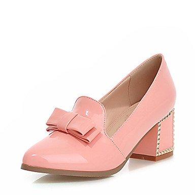WSX&PLM Da donna-Tacchi-Ufficio e lavoro Formale Serata e festa-Altro-Quadrato-Finta pelle-Nero Blu Rosa Bianco pink