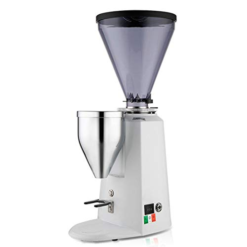 Nalkusxi 900A Professionelle italienische elektrische Grinder kommerzielle Kaffeebohne Grinder (Color : White) - Kommerzielle Espresso-maschine