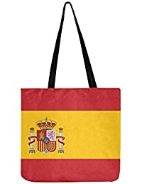 11f70e804d Vector - Borsa a tracolla in tela, con illustrazione della bandiera della  Spagna, per