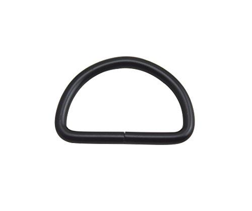 wuuycoky schwarz D Ringe Schnallen D-Ring nicht verklebte für Gurtband Umreifung 7Größe Optional, Inner Diam:1.5