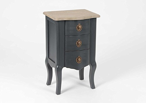 Amadeus Table de Chevet 3 Tiroirs, Collection Célestine