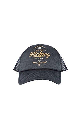 G.S.M. Europe–Billabong–Cappellino da uomo, stile motociclista, Uomo, Kappe CHOPPER TRUCKER, Black, Taglia unica