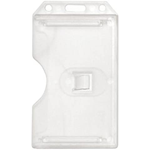 Clear Rigid Plastic Vertical 2-Sided Multi-Card Badge Holder - 100 per pack by Brady