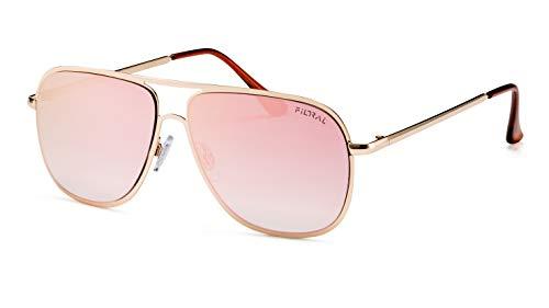Filtral Verspiegelte Pilotenbrille/Flat Lens Sonnenbrille für Damen & Herren F3001029