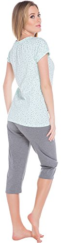 Italian Fashion IF Allaitement Pyjama Femme Cindi Mama 0225 Menthe/Melange