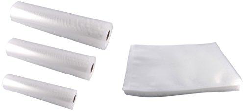 Caso 1236 Profi-Folienset 2 (50x Folienbeutel 30 x 40 cm, 1x Folienrolle 20 x 600 cm, 1x Folienrolle 28 x 600 cm, 1x Folienrolle 30 x 600 cm)