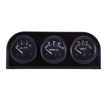 Misuratore di voltaggio B734 52MM 3 in 1 Car Auto Gauge Voltmetro Sensore di pressione olio Sensore di pressione dell'olio Kit triplo per auto automobile veicolo a moto