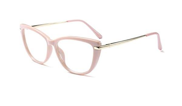 34d02e522de BuyWorld CCSPACE Ladies Cat Eye Glasses Frames Women Red Pink Optical  Eyeglasses Fashion Prescription Eyewear Computer Glasses 45366  Amazon.in   Amazon.in