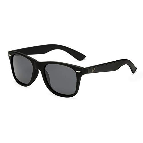 WZYMNTYJ Mode Sonnenbrillen männer polarisierte Sonnenbrille männer Fahren Spiegel Beschichtung Punkte schwarz Rahmen uv400 Beweis Eyewear Male