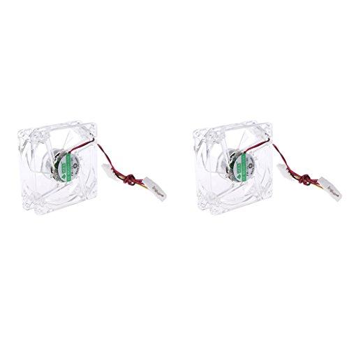 Homyl 2 x 80mm Gehäuselüfter PC Kühler Lüfter Gehäuselüfter 4-Pin Interface Kühlgebläse geräuscharm High Speed LED-Licht Kühlerlüfter Geschwindigkeit (RPM): 2000 U/min