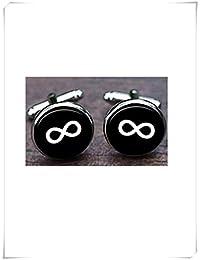 Leonid Meteor - Gemelos de infinito, diseño de cruz infinito, símbolo, gemelos infinitos, infinito amor hecho a mano, gemelos