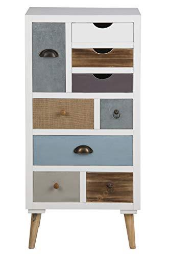 AC Design Furniture Cómoda Suwen Cajones Multicolores