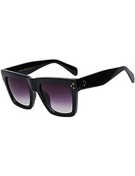 TIANLIANG04 Gafas de sol mujer sobredimensionado cuadrados clásicos tonos de gafas de sol para remachar Atras...