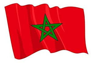 Autoaufkleber Sticker Fahne Marokko wehend Flagge Aufkleber