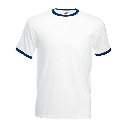 fruit-of-the-loom-maglietta-100-cotone-uomo-l-bianco-blu-navy