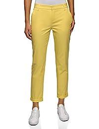 oodji Ultra Mujer Pantalones Básicos de Algodón 4b6eb90894b6