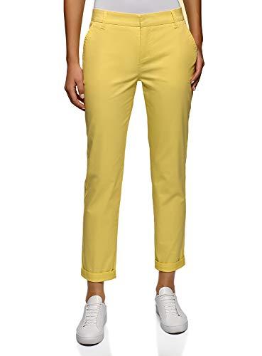 Pantalones amarillos básicos de mujer