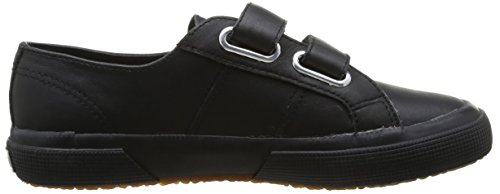 Superga 2750 Fglvj Velcro, Baskets mode mixte enfant noir (Schwarz)