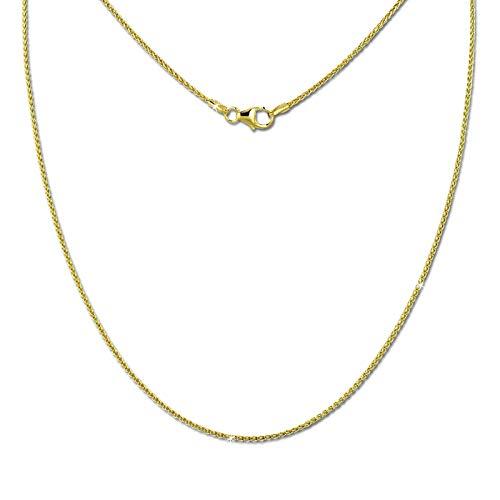 SilberDream Collier Kette Zopf 333 Gold Damen 45cm 8 Karat D2GDK00645Y 333 Zopf