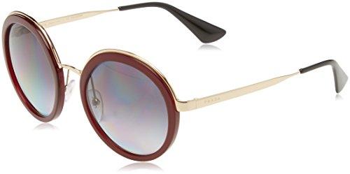 Prada Damen 0PR50TS VHW5W1 54 Sonnenbrille, Rot (Bordeaux/Polargrey)