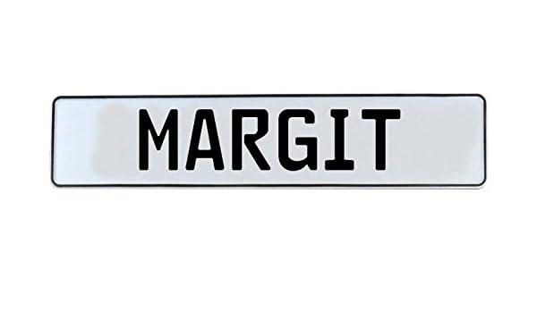 Margit Vintage Parts 708179 White Stamped Aluminum Street Sign Mancave Wall Art