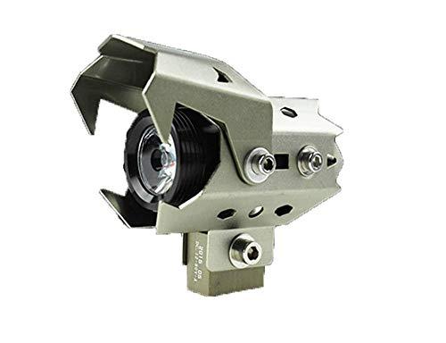 AIQIXING Motorradscheinwerfer - Scheinwerfer - Aluminiumlegierung - DREI Beleuchtungsmodi - 120W wasserdichtes Motorrad LDE-Licht,Bronze
