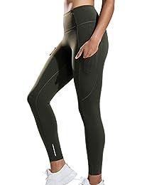 CRZ YOGA Femme Legging de Sport Fitness Taille Haute En Tissu Léger Avec  Poche 93bde64a50d