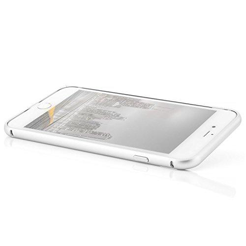 Saxonia Aluminium Bumper iPhone 7 Plus Ultra Slim Alu Case Schutz Hülle Rahmen (mit Klinke) Diamantschwarz Silber
