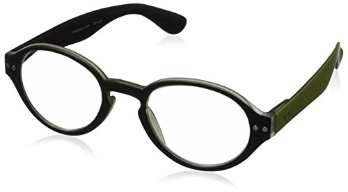 Peepers All The Rage Round Reading Glasses,Black,+1.25