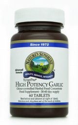 GARLIC, HIGH POTENCY (60) vegetarian,vegan formula by Nature's Sunshine
